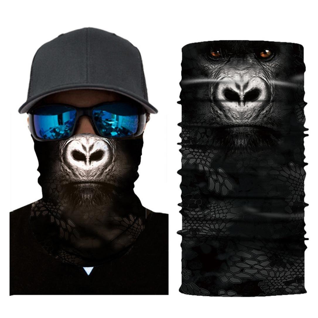 cieken 3d Face Sunマスク、Neck Gaiter、Headwear、マジックスカーフ、Balaclava、バンダナ、釣り、ハンティング、ヤードをヘッドバンド作業、ランニング、Motorcycling  5-D B07FLMNPDC