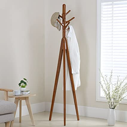 Amazon.com: DYFYMX Solid Wood Coat Rack Bedroom Floor ...