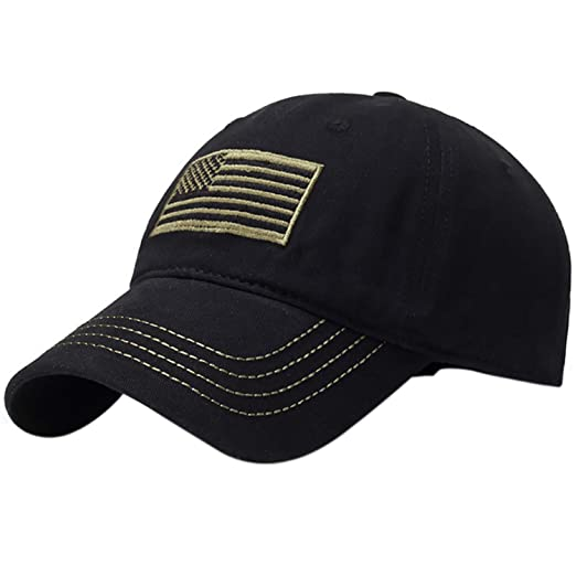 Mens Baseball Cap Embroidered Flag Tactical Hats for Men Gorras for Adult Sun Hat Bone Trucker Cap at Amazon Womens Clothing store: