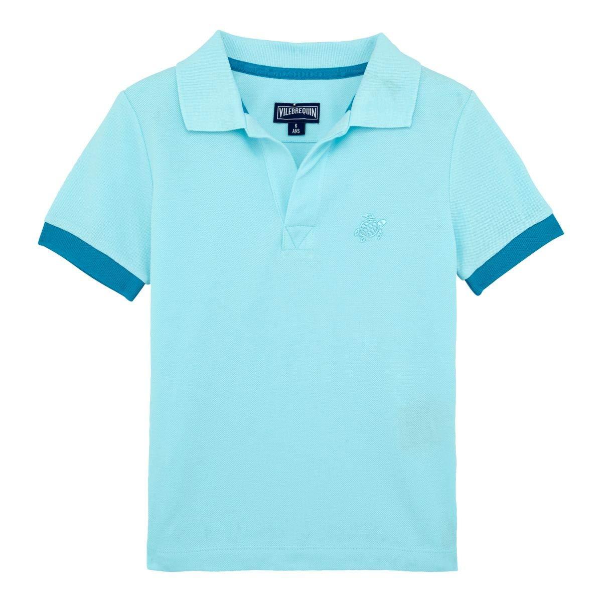 Vilebrequin Boys' Big Kids Cotton Pique Polo-10 yrs, Aquamarine, 10