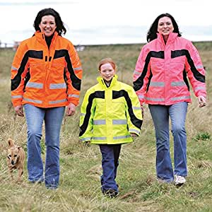 Equisafety Polite Reflective High Visibility Winter Riding Jacket - CHILD - XXs 7-10 by Equisafety