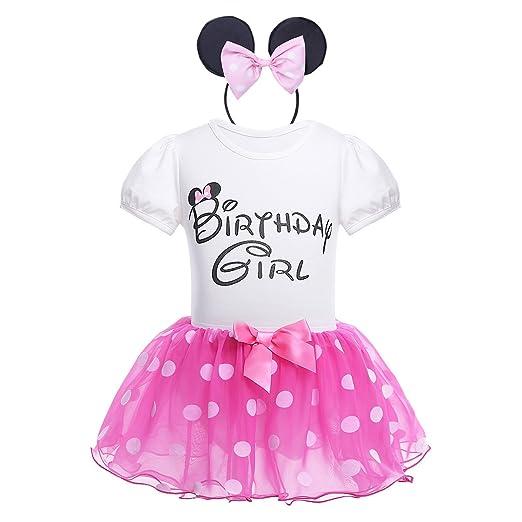 Newborn Baby Girls First Birthday Outfits Tops Romper+Skirts Headband Dress Set