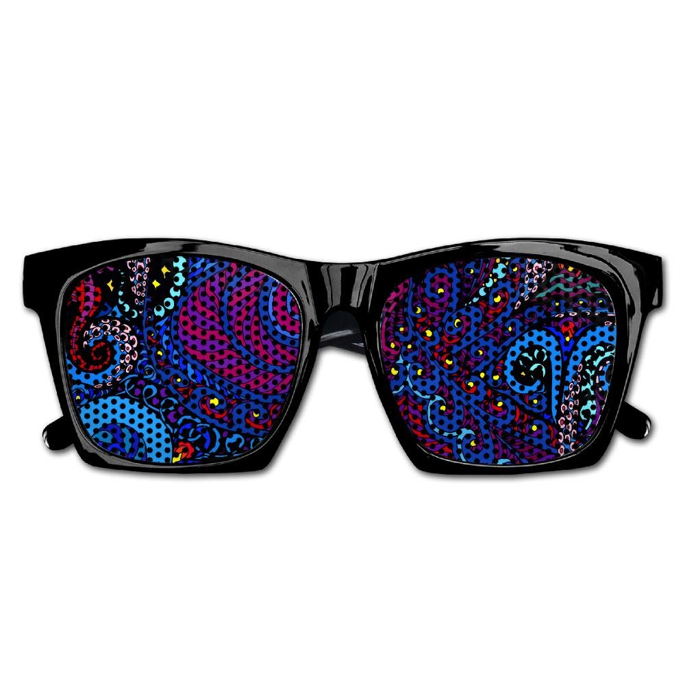 Xing Stars Colorful Summer Unisex Octopus Coloured Drawing Fashion Party Costume Sunglasses