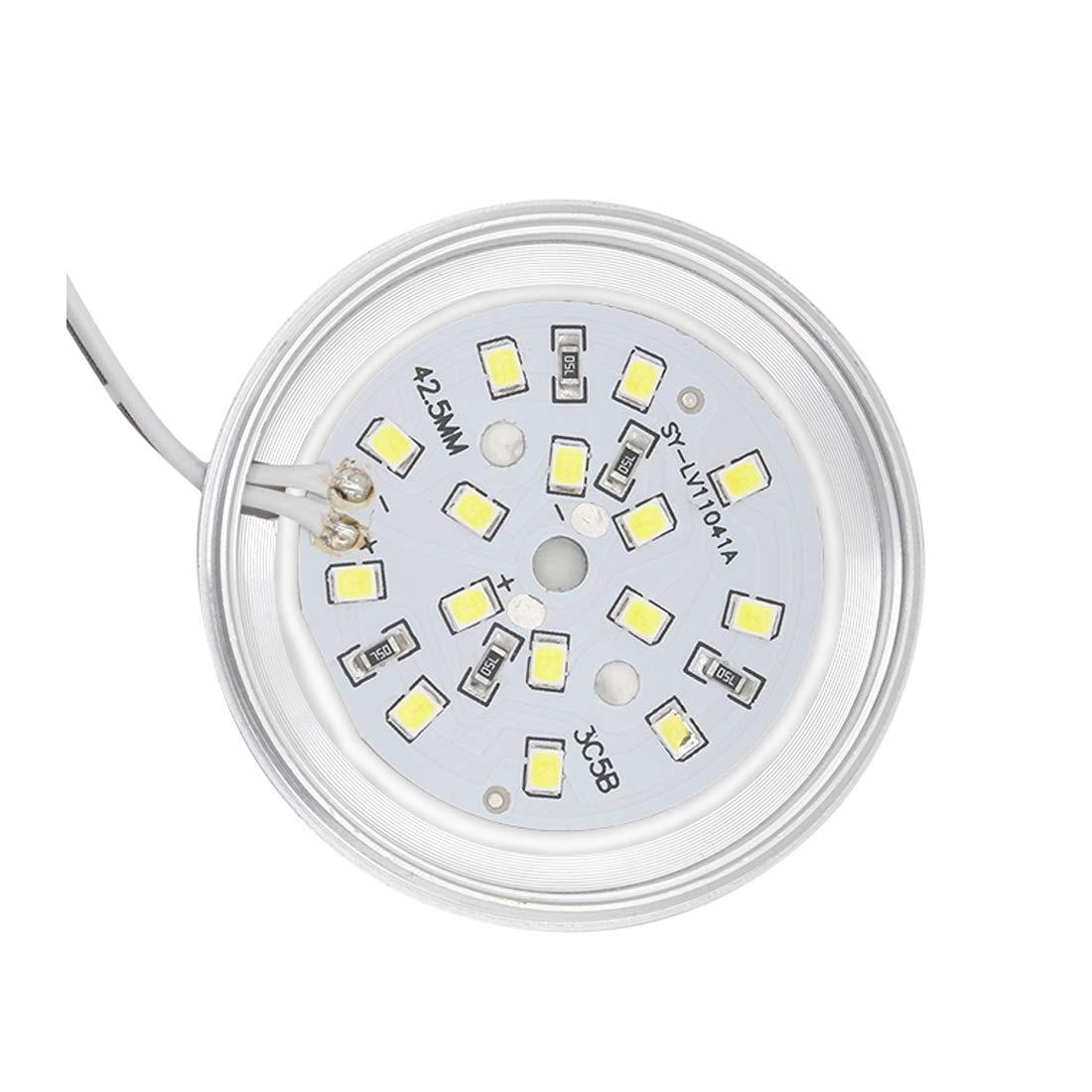 Seven Lights luz empotrada en el techo superficie montada de 8 mm de espesor 3W 12V SMD2835 luces debajo de la cocina del gabinete carcasa de plata 4000K