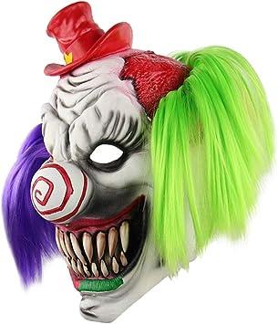 P Prettyia Máscara de Payaso Monstruo de Miedo de Látex Nuñeca de Fantasma de Terror Juego de rol para Adultos: Amazon.es: Juguetes y juegos