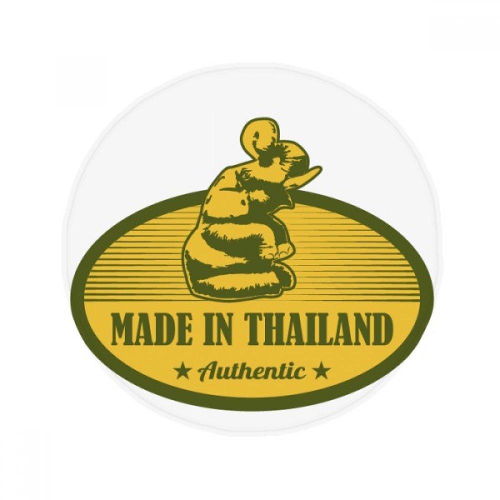 DIYthinker Thai Customs Culture Made in Thailand Anti-slip Floor Pet Mat Round Bathroom Living Room Kitchen Door 80cm Gift by DIYthinker