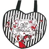不思議の国のアリス アリス トートバッグ 黒 ブラック ハート バッグ 鞄 かばん (A4サイズの収納OK) ( ディズニーリゾート限定 )