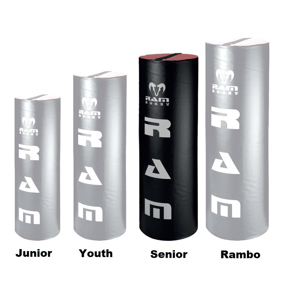 Ram Rugby Tackle Bag - Senior - 44lbs - 54'' Tall - Black/Red PVC Cover - High Density Foam Core by Ram Rugby (Image #2)