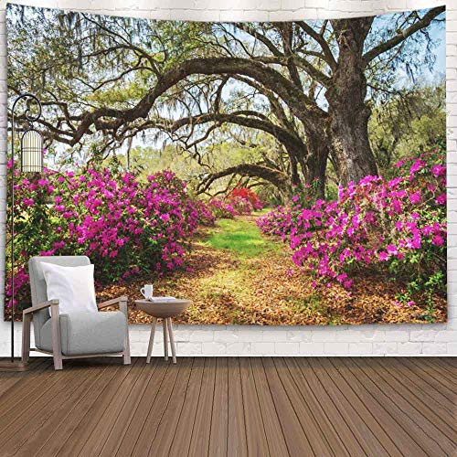 Shorping Nature Tapestry, Tapestry 80X60Inches Christmas Tapestry Winter Wall Tapestry Mountain Tapestry for Home Room Dorm Tapestry Carolina Spring Flowers Charleston Sc Lowcountry Scenic Nature