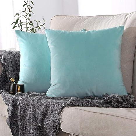WBXZAL - Funda de Almohada de Color sólido para sofá ...
