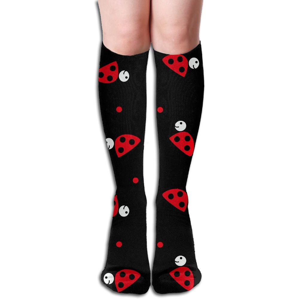 Ladybug Cute Happy Young Women Funky Socks YDIUOD