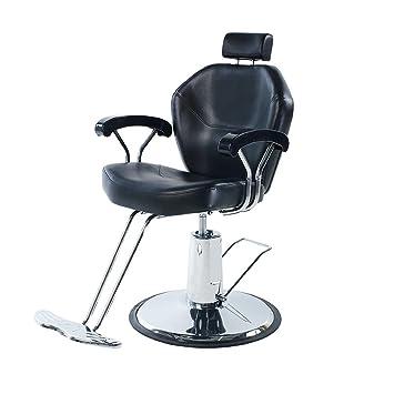 37b0122efc4 Amazon.com  Eastmagic Professional Black Hydraulic Styling Barber Chair Hair  Beauty Salon Equipment  Beauty