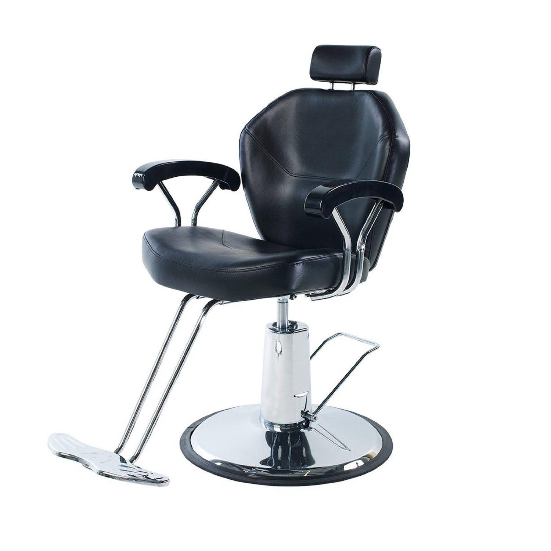 Eastmagic Professional Black Hydraulic Styling Barber Chair Hair Beauty Salon Equipment