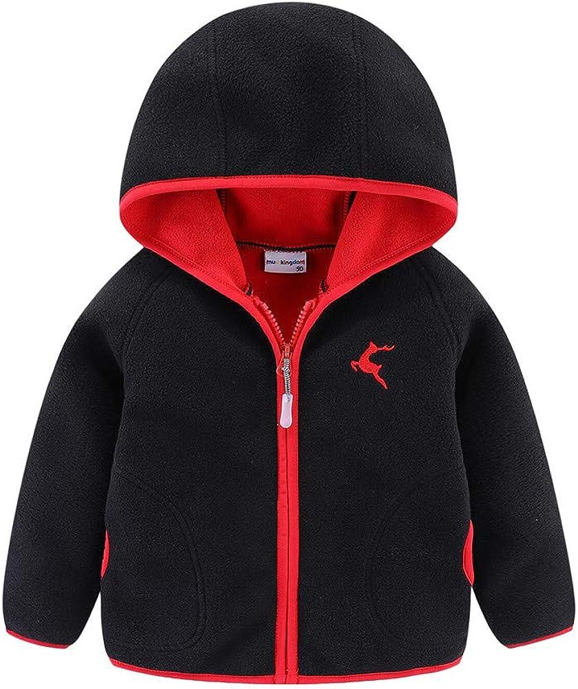 LittleSpring Kids Full-Zip Polar Fleece Jacket with Hood