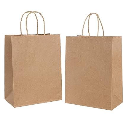 30PCS Bolsas de Papel con Asas,Bolsas de Papel Compra,Bolsas Ppapel Kraft,Bolsas Papel Regalo para la Tienda de Comestibles para Hornear Compras ...