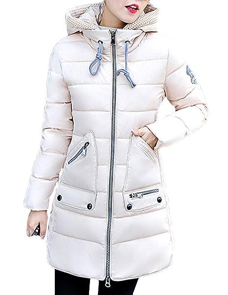 Mujer Plumas Abrigo Otoño Invierno Moda Coat Oversize Outerwear Moda Joven Abrigos Ropa Parkas Duradero Termica Espesar Chaquetas Colores Sólidos Pluma: ...
