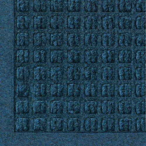 WaterHog Fashion Commercial-Grade Entrance Mat, Indoor/Outdoor Charcoal Floor Mat 4' Length x 3' Width, Navy by M+A Matting (Rug England Floor)