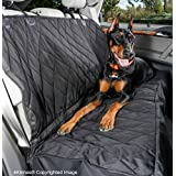 4Knines Rear Bench Seat Waterproof Non-Slip Cover with Hammock, Lifetime Warranty (Regular, Black)