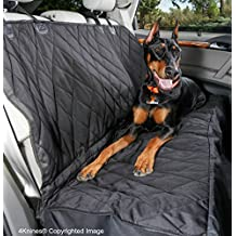 4Knines Rear Bench Seat Waterproof Non-Slip Cover with Hammock, Lifetime Warranty (Extra Large, Black)