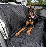 Dog Seat Cover - Best Nonslip Backing - Side Flaps - Waterproof - Unconditional Lifetime Warranty - Black