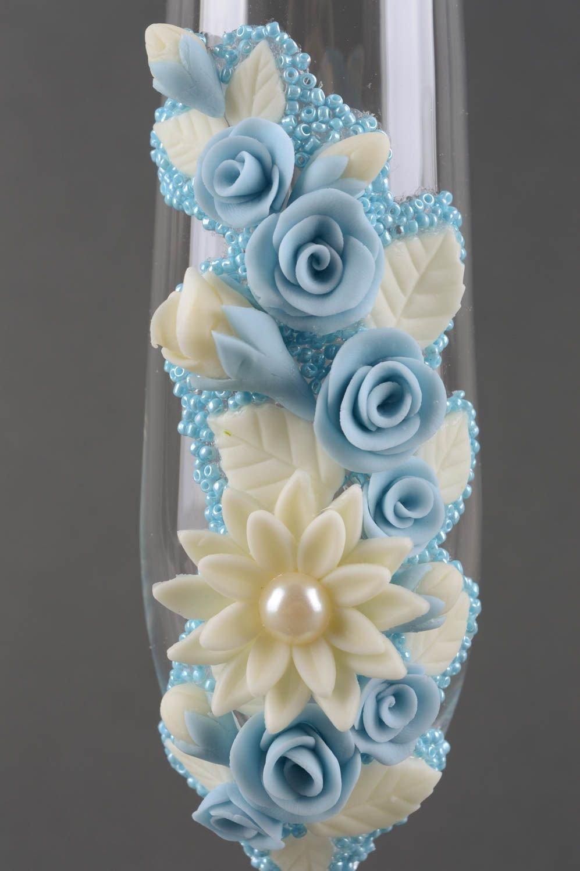 Copas para boda hechas a mano con abalorios vasos de cristal regalo original: Amazon.es: Hogar