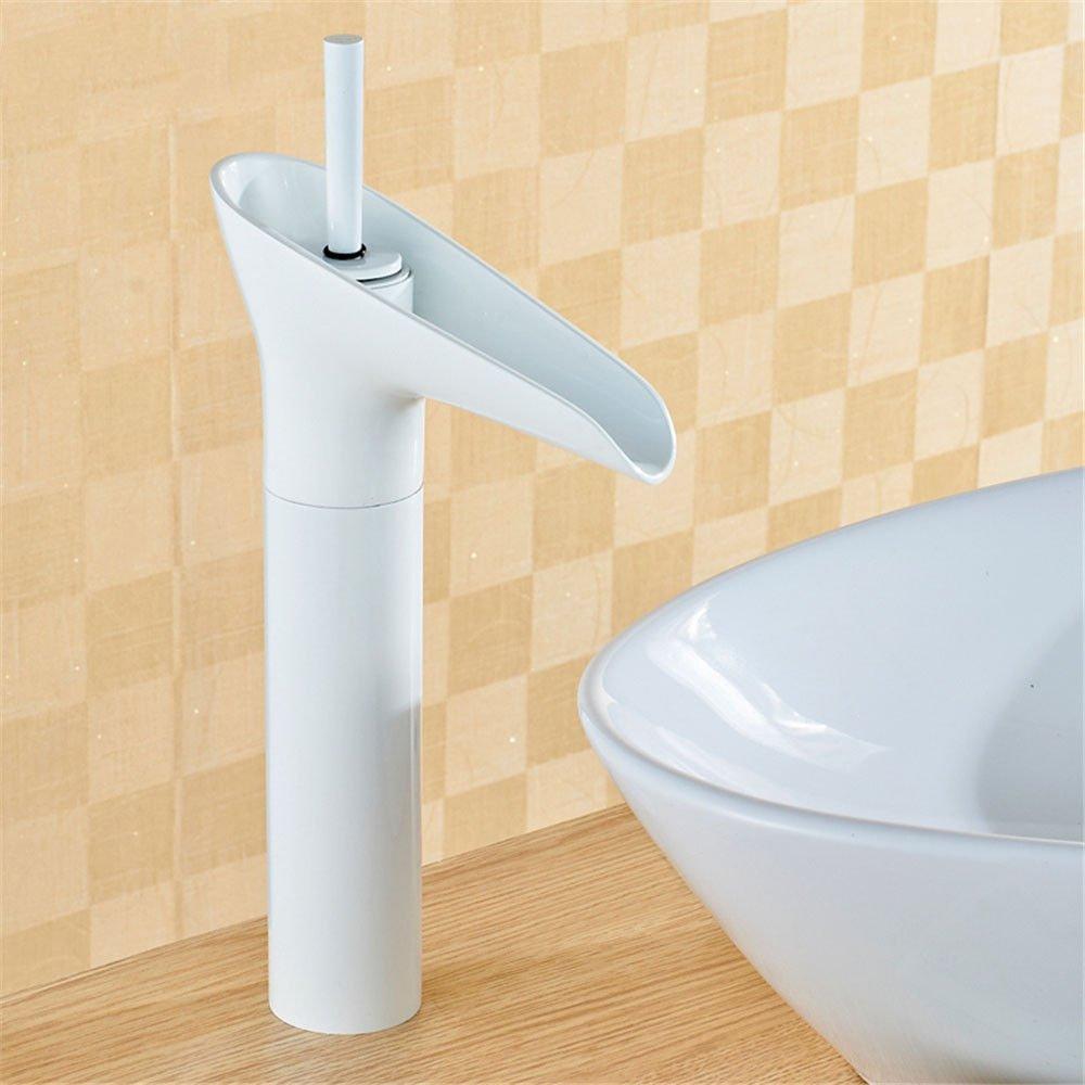 ANNTYE Waschtischarmatur Bad Mischbatterie Badarmatur Waschbecken Messing Wasserfall Warmes und kaltes Wasser der Einhebelsteuerung Badezimmer Waschtischmischer