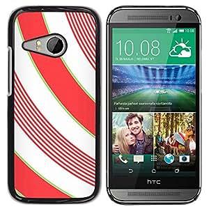 Be Good Phone Accessory // Dura Cáscara cubierta Protectora Caso Carcasa Funda de Protección para HTC ONE MINI 2 / M8 MINI // Lines White Minimalistic Girly