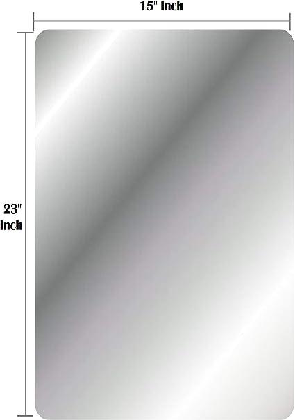 Amazon Com Q Bics Big Flexible Mirror Sheets 15 X 23 9 X 0 5 Round Corner Soft Non Glass Fun House Cuttable Craft Plastic Sheet Fpeel Off Protective Cover Sheet Peel Back Sticker And Stick No Glue