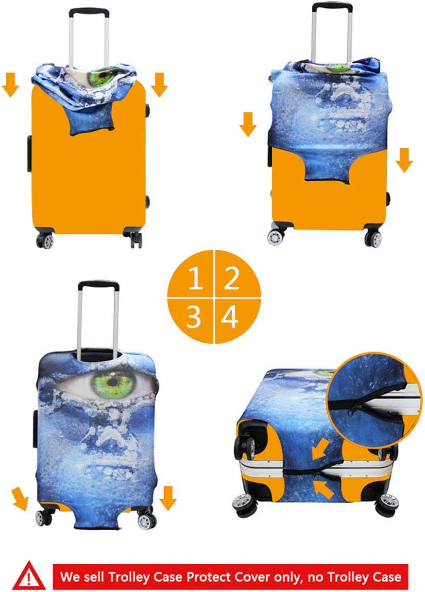 Green Upetstory Football Printed Luggage Protector Suitcase Cover 2224 Suitcase Dust Cover Size S Travel Baggage Tag