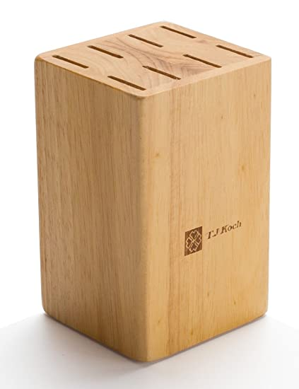 Knife Block For Steak Knives 5 Inch Utility Knives 8 Piece Slot Organizer Durable 100 Natural Wood Holder Storage In Drawer Cabinet Kitchen