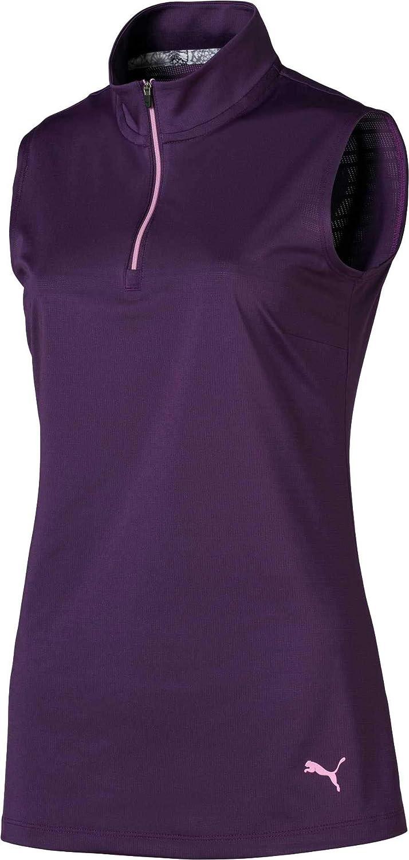 [プーマ] レディース シャツ PUMA Women's -Zip Mock Sleeveless Golf P [並行輸入品] M  B07TD3VMX7