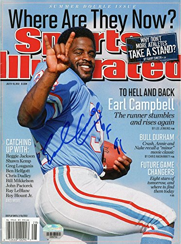 Earl Campbell Houston Oilers Autographed Where Are They N...