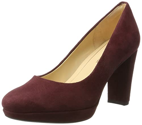 f23d27d365f6 Clarks Women s Kendra Sienna High Heel Pumps Purple (Burgundy Suede) 3.5  UK  Buy Online at Low Prices in India - Amazon.in