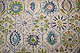Multicolored Tile Design Antique Stone Blue P Kaufmann Fabric