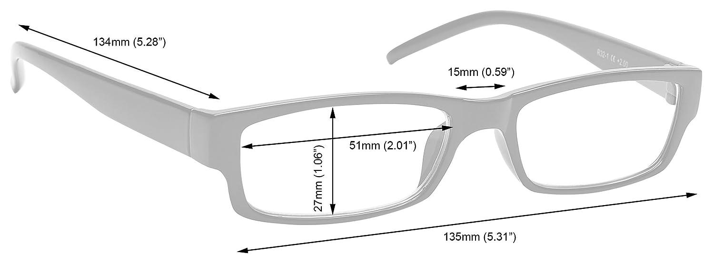 2,50 Schwarz Kurzsichtig Fernbrille Kurzsichtigkeit Herren Damen Leicht Komfortables M32-1 Dioptrien