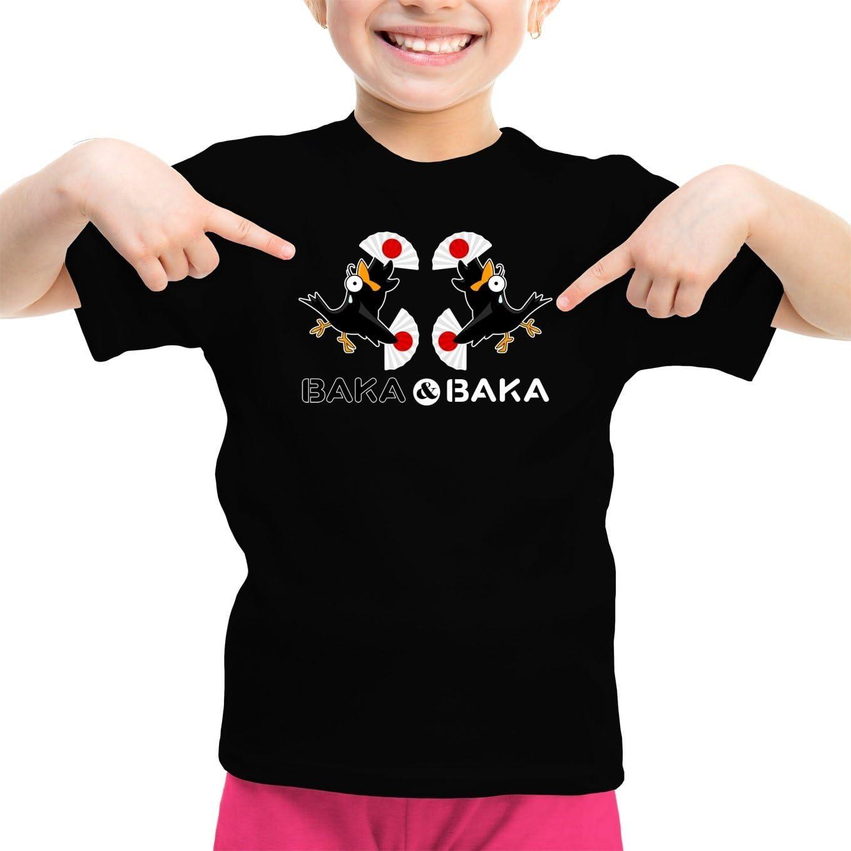 Camiseta Niña Negra Baka Baka humorística con Manga - Baka Baka Fiesta (Duo) (Parodia de Baka Baka) (Ref:171): Amazon.es: Ropa y accesorios