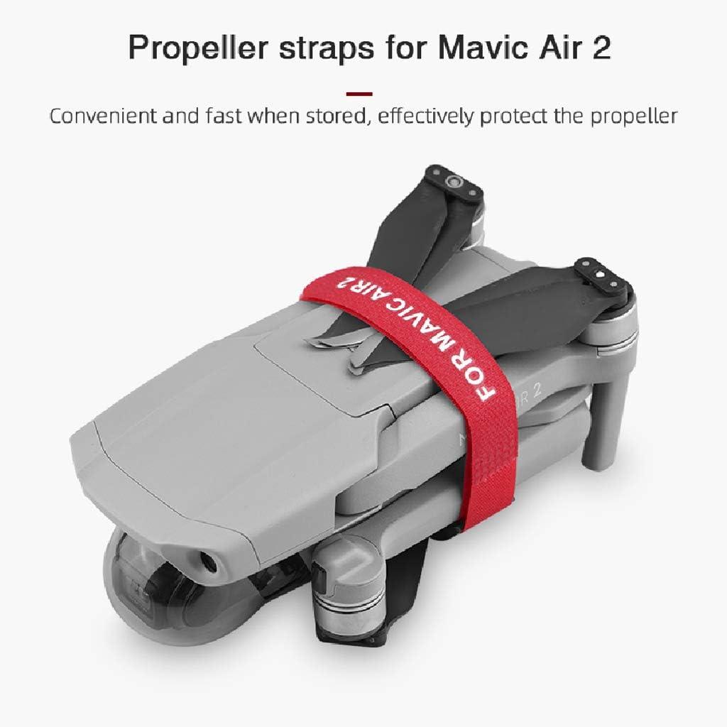 huiingwen 2 pezzi Elica Blade Tape Straps compatibili con Mavic Air 2 supporto di fissaggio fascette stringicavo con cinghia fissa per accessori droni Nero