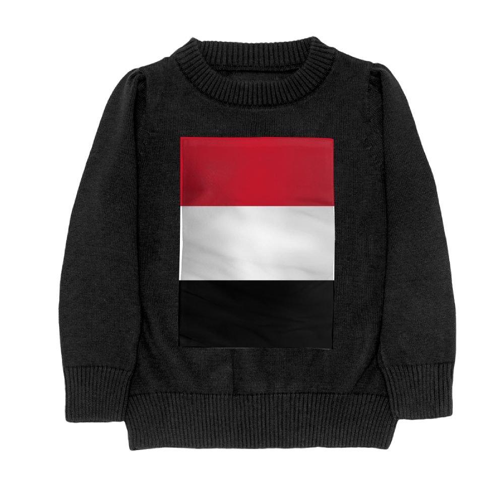 DTMN7 Flag of Yemen Teens Sweater Long Sleeves Crew-Neck Youth Athletic Casual Tee Junior Boys