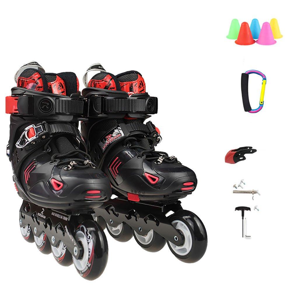 kele Roller skates,Children's suit,Outdoor skating for beginners for boys girls and women- outdoor-indoor-B S adjustable (31-34) code