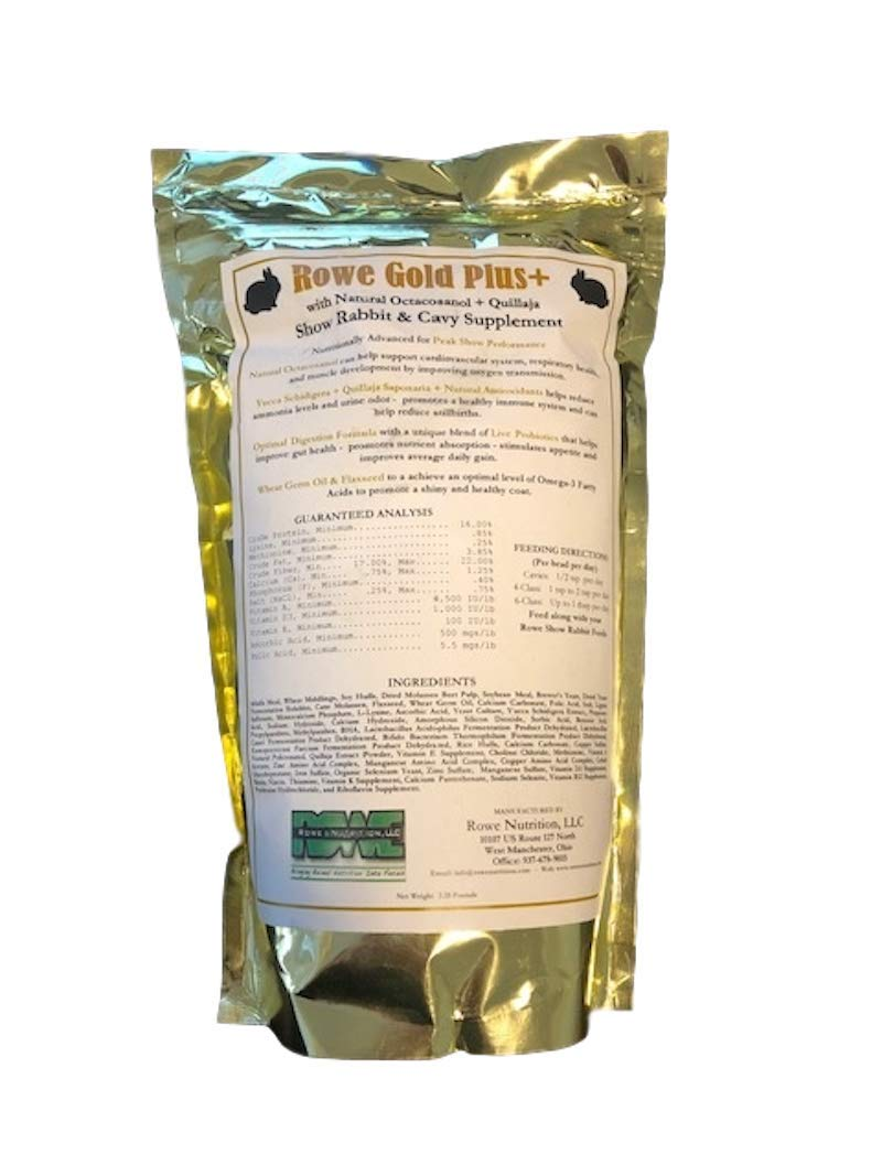 Rowe Gold Plus+ Rabbit & Cavy Supplement (10LB) by Rowe Nutrition