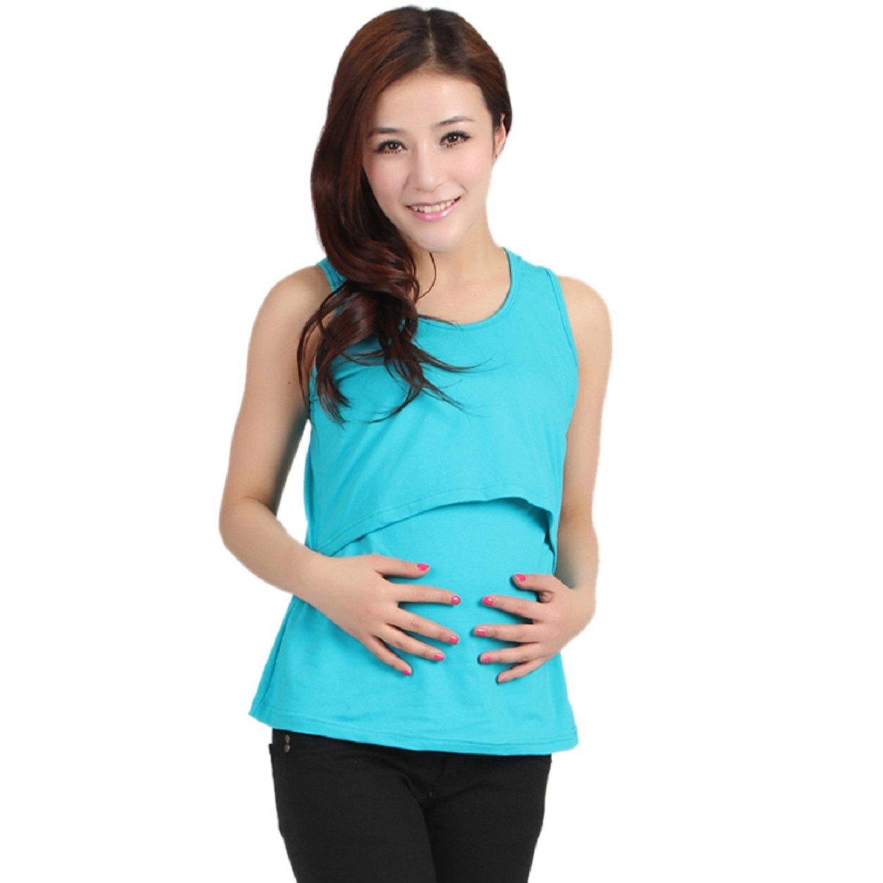 Malloom® Pregnant Maternity Clothes Nursing Tops Breastfeeding Vest T-Shirt 52O1025