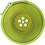 Mini-Etui - Blume Täschchen - Nur 7cmØ Kopfhörer Tasche, Ohrhörer Schutztasche, Case für in-Ear und Andere Kleine Utensilien (Blume)