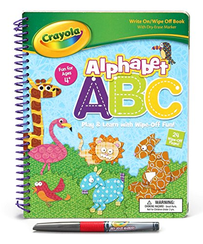 Crayola Spiral Wipe Off - Alphabet