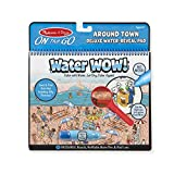 Melissa & Doug On The Go Water Wow! Around Town Deluxe (Reusable Water-Reveal Activity Pad, Chunky-Size Water Pen)