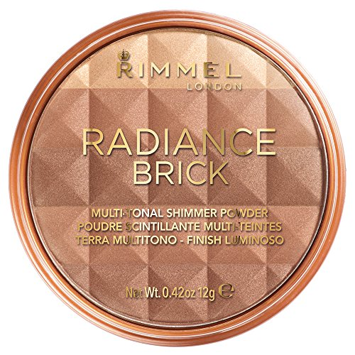 Rimmel Radiance Shimmer Brick Multi-Tonal Bronzer & Highlighter Palette- Medium