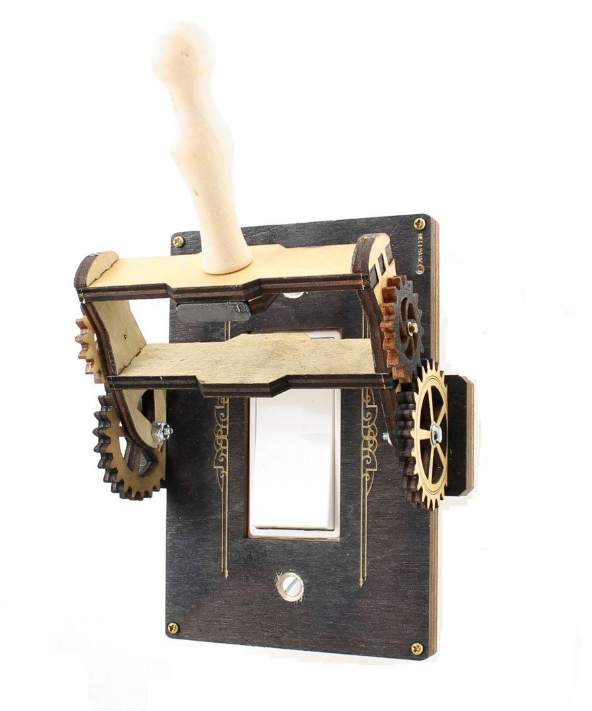 Green Tree Jewelry Steampunk Decora Rocker Throw Switch Black Wood Light Switch Plate Cover