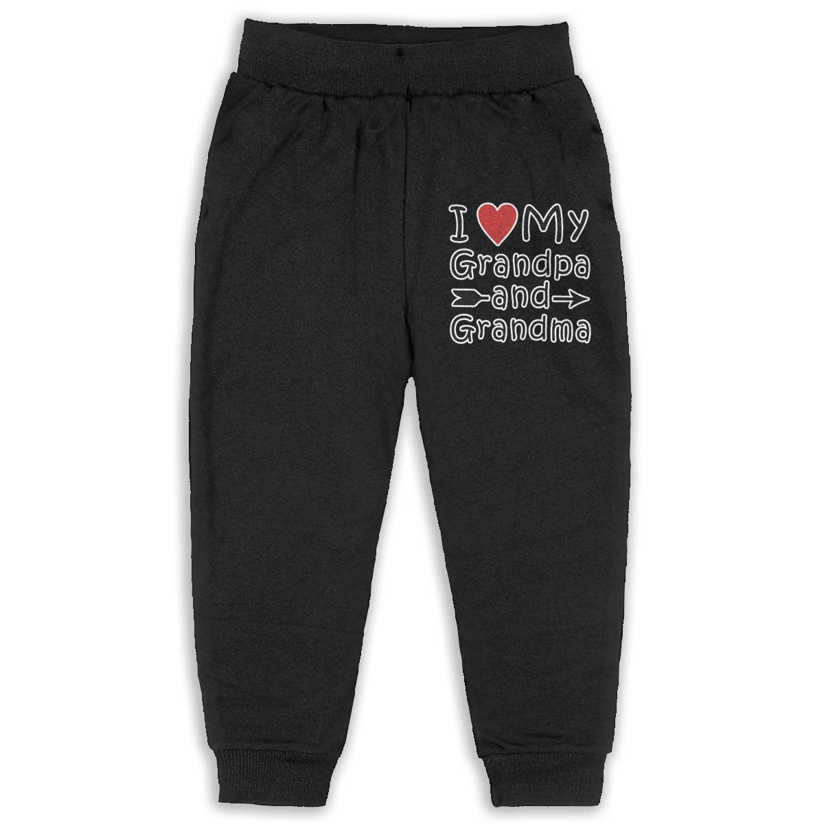 I Love My Grandpa and Grandma Sweatpants for Boys /& Girls Fleece Active Joggers Elastic Pants