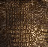 Upholstery Fake leather MAHOGANY Gator Glimmer Superior vinyl fabric BTY 56""