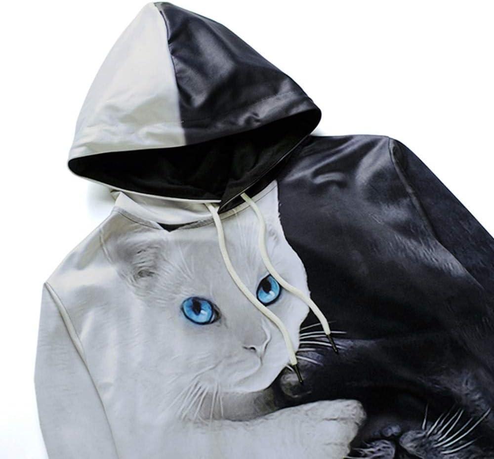 SEEAAY Hoodies Cartoon Blend 3D Cat Imprim/é Oversize Sweatshirt Femmes Hommes///Pull /À/Manches Longues Sweatshirts Tops