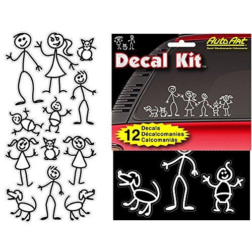 Chroma 5309 Stick People Decal Kit, 12 piece